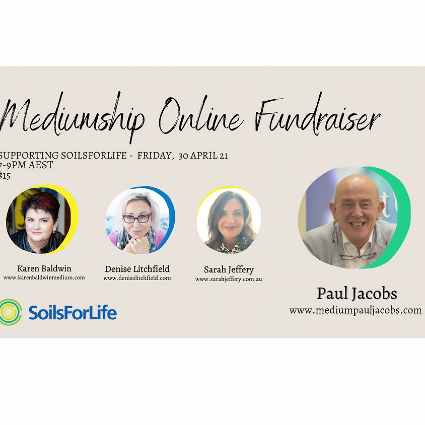 Mediumship Online Fundraiser with Paul Jacobs and guests