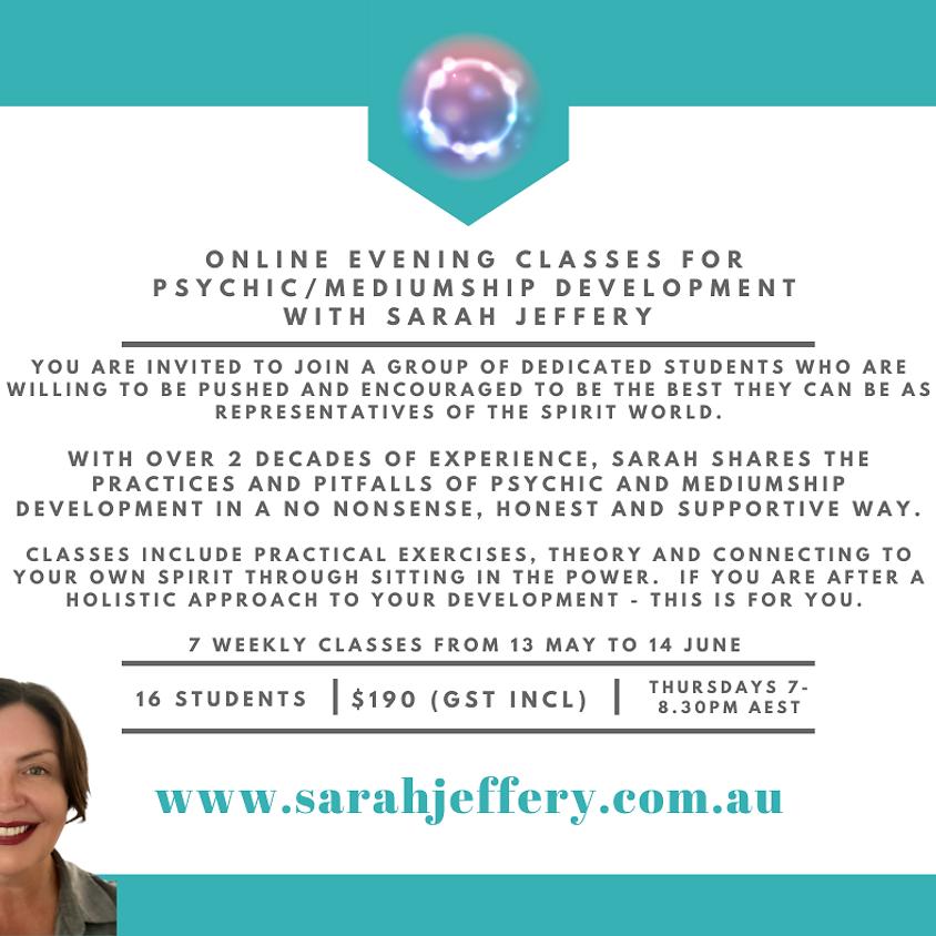 Online Psychic/Mediumship Classes with Sarah Jeffery