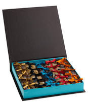 Caixa Luxo com 25 palhas italianas