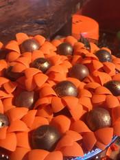 Bombom com casquinha de chocolate 70% e Ganache chocolate , whisky