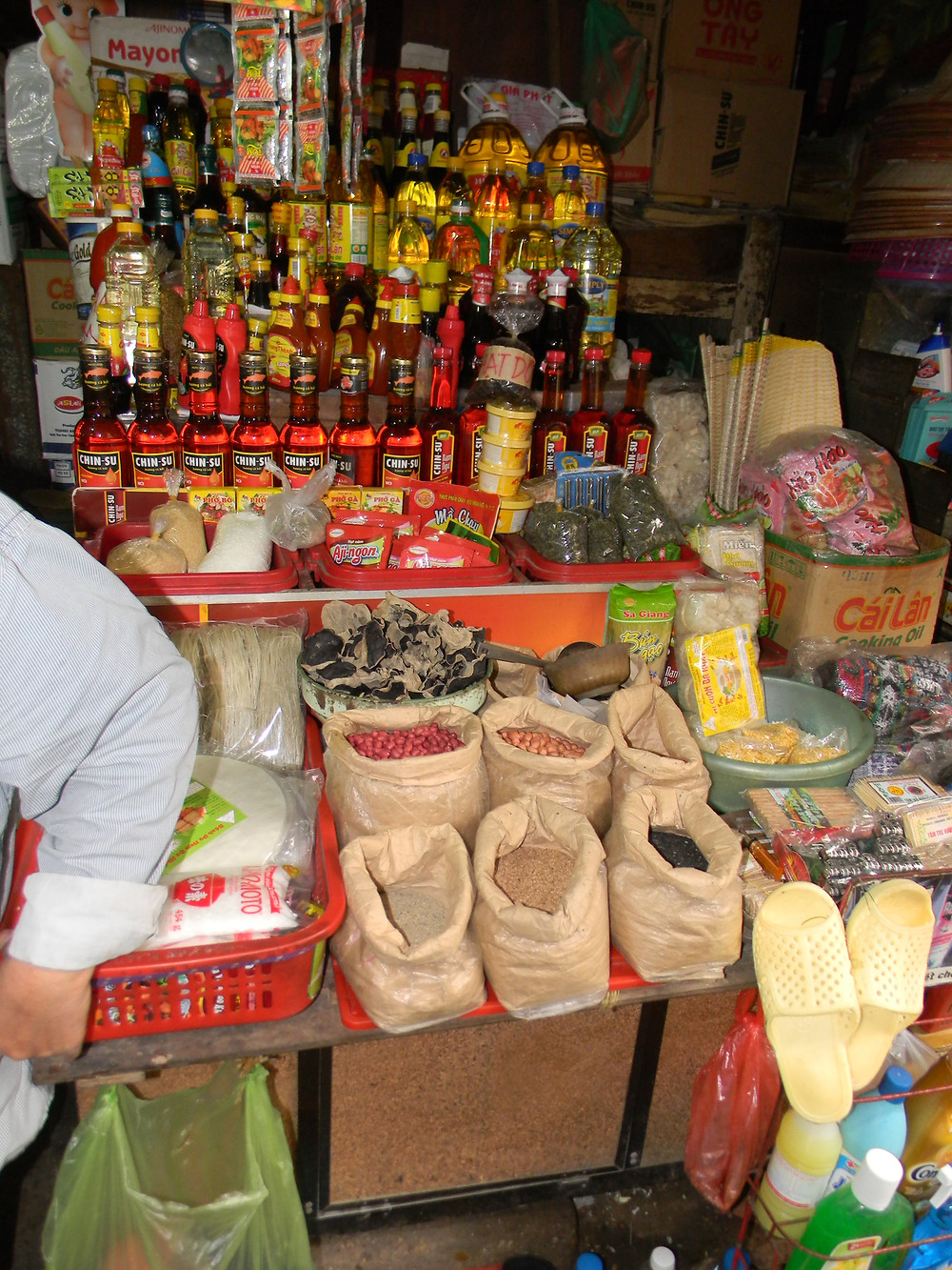 Cooking ingredients from the market