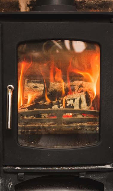 We have a wood-burning stove in our loun