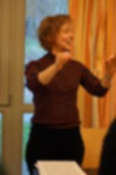 Anna conducting