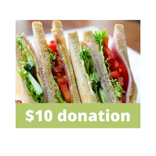$10 Staff Appreciation Lunch Donation