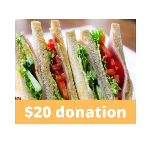 $20 Staff Appreciation Lunch Donation