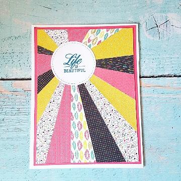 כרטיס בטכניקת starburst