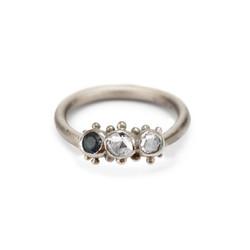 Granulated Sapphire & Diamond Ring