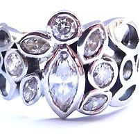 marquise diamond and 18 carat lattice ri
