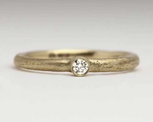 womens handmade gold engagement ring