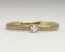 womens handmade gold engagement ring