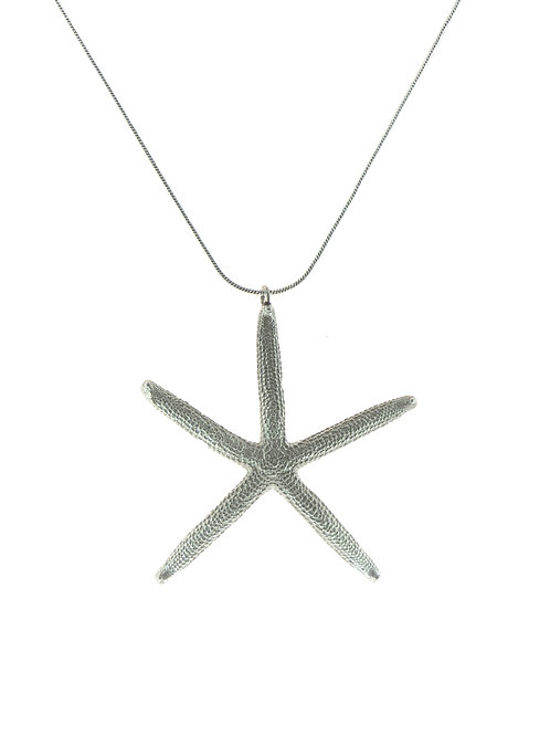 Large Silver Sea Star Pendant