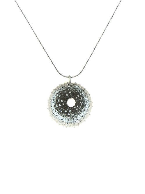 Medium Silver Sea Urchin Pendant