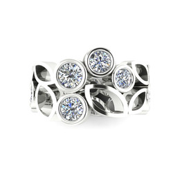 armelle ellison diamond lattice ring