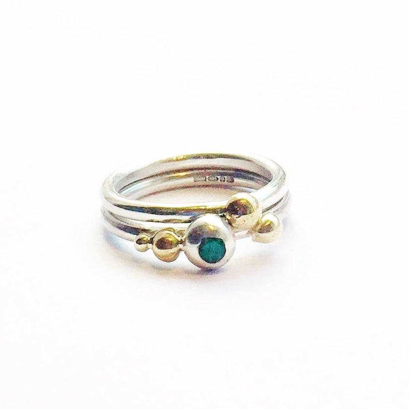 armelle ellison gold silver emerald stac