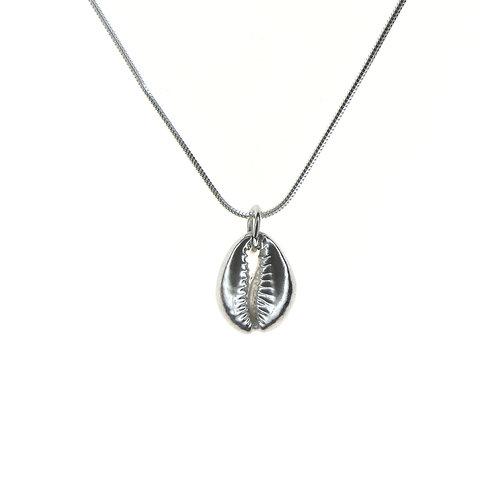 Medium Silver Cowrie Shell Pendant