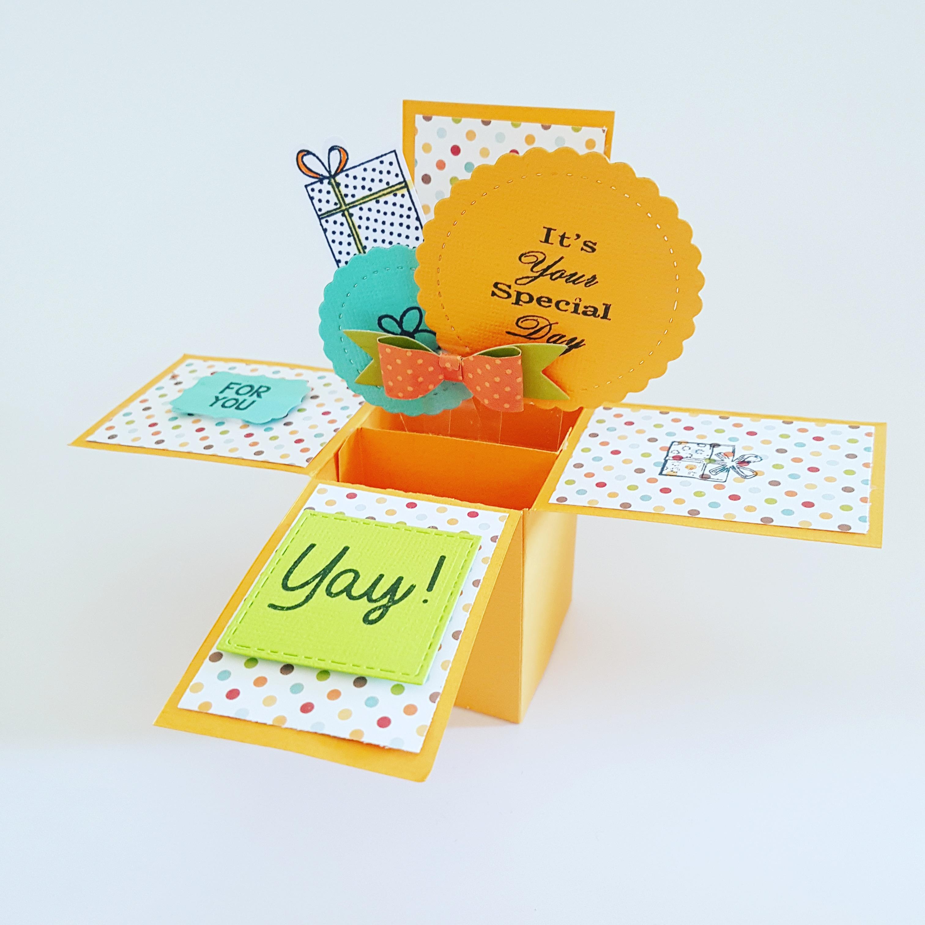 כרטיס ברכה פופ אפ קופסה