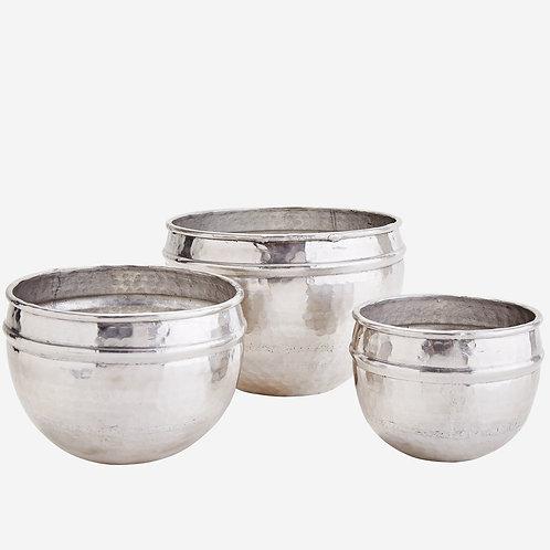 Cache-Pot martelé Aluminium
