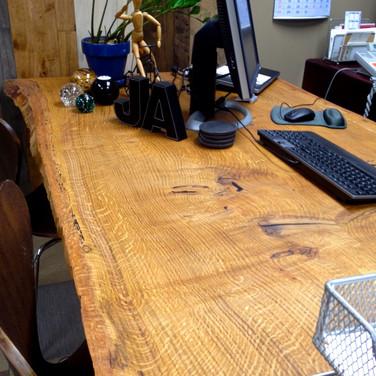 Live-edge Swamp Oak Desk Top