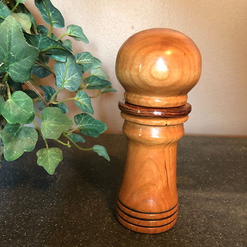 "6"" Solid Cherry Pepper Mill"