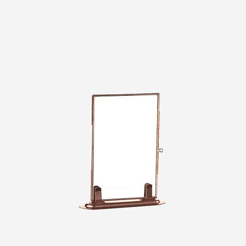 Miroir sur pied dorée