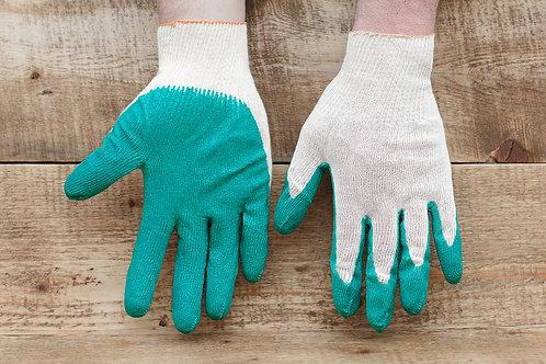 Перчатки трикотажные с одинарным латексным покрытием купить