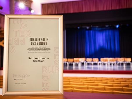 Salzlandtheater erhält den Theaterpreis des Bundes 2021
