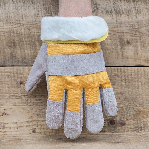 Перчатки спилковые утепленные с мехом купить