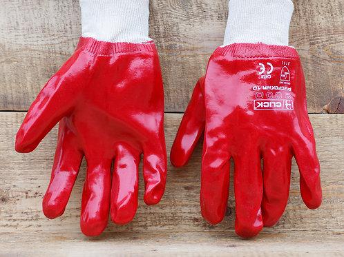 Перчатки «Гранат» МБС красные ПВХ хлопок купить