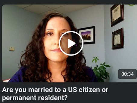 Are you married to a US citizen or permanent resident?
