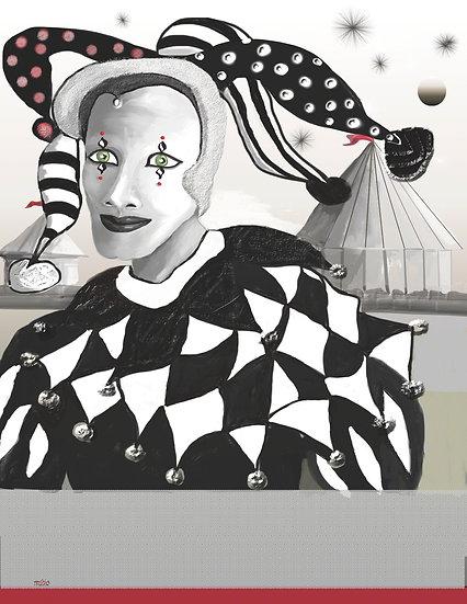 The Black & White Jester 1