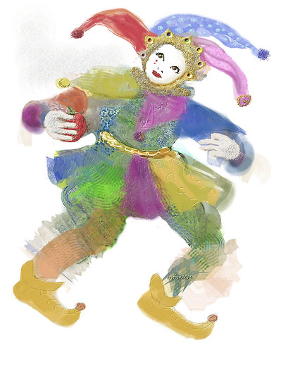 Jester with Apple 1