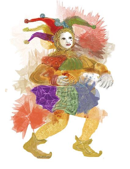 Jester with Fan 1