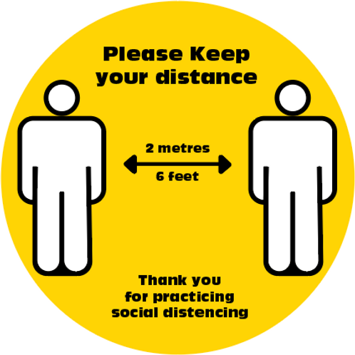 Yellow Distance Floor Decals