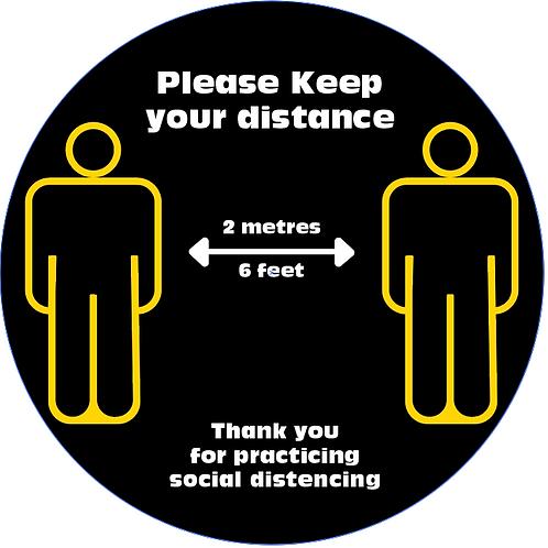 black Distance Floor Decals