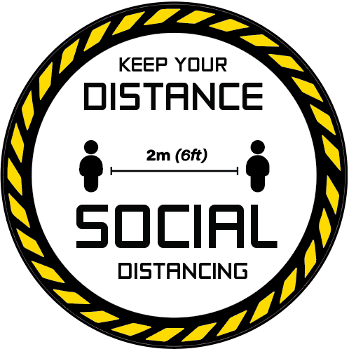 Keep Your Distance Floor Decals