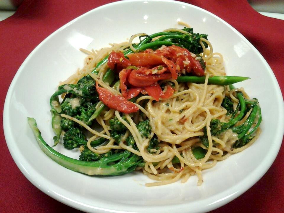 PASTA & BROCCOLINI -garlic,chili flakes and olive oil