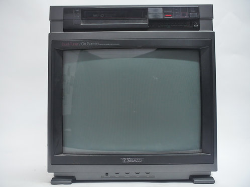 Emerson VCR on top TV