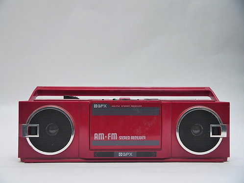 GPX Red AM/FM Boombox