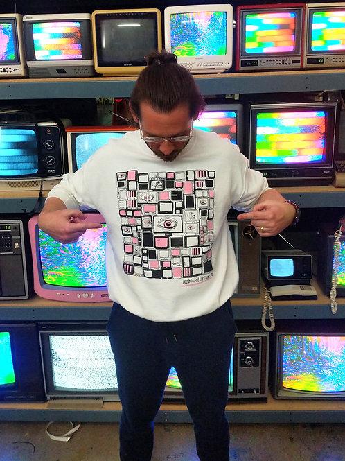 Limited Edition Media Pollution Sweatshirt- WHITE