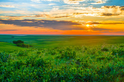 The Kansas Flint Hills where the sunsets are majestic!