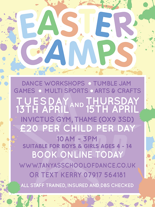 TSOD Easter Holiday Camps