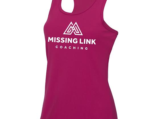 Missing Link Women's Running Vest - Pink