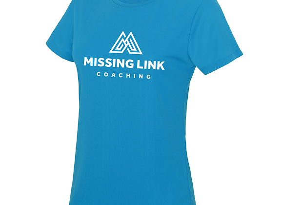 Missing Link Women's Running Tee - Blue
