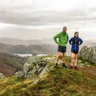 Rainy run with Jack and Joe.  Soggy feet