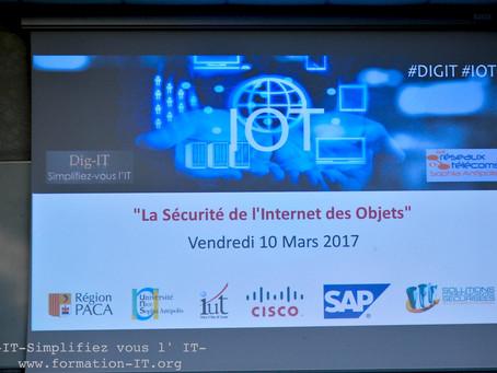 """Reportage séminaire """"Sécurisation de l'IOT"""" 10 Mars 17"""