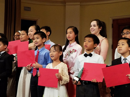 The 32nd MFHC Winners Concert, sponsored by the Chinese Fine Arts Society