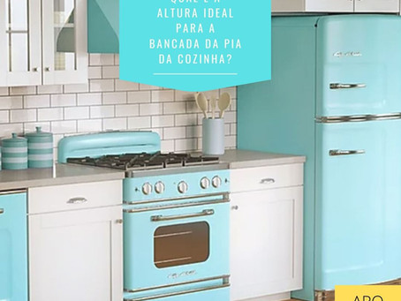 Qual é a altura ideal para a bancada da pia da sua cozinha?