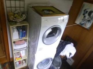 What about some simple shelves around the Washer and Dryer?