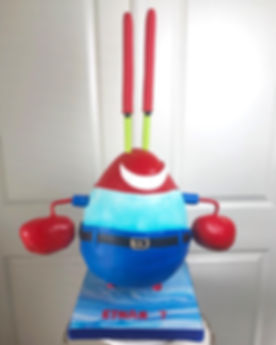 Mr Krabs Gravity Defying Birthday Cake