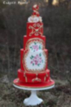 hand painted wedding cakes dallas